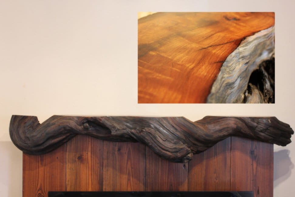 Driftwood Fireplace Mantel