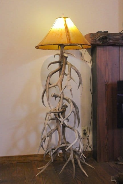 Rustic Elk and mule deer antler lighting