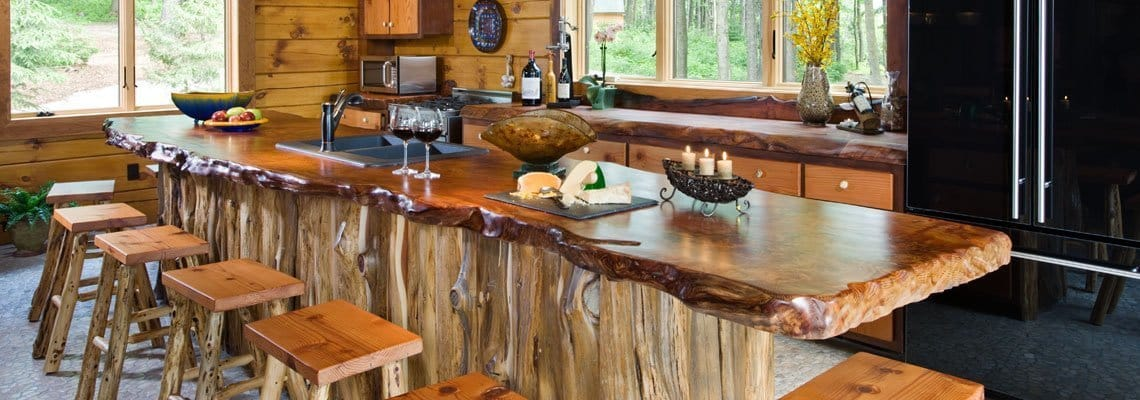 Slideshow-Natural Wood Countertops