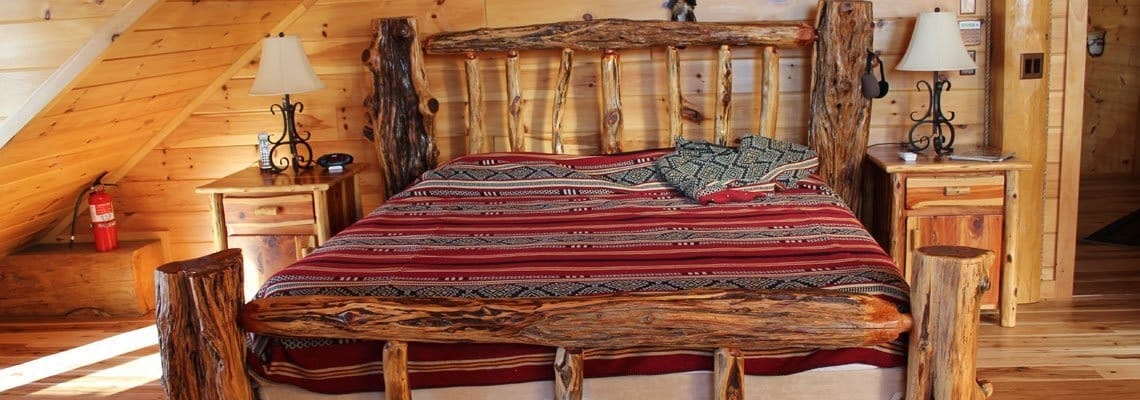 Slideshow-Rustic Log Bed
