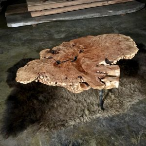 burl wood table